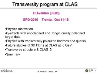 Transversity program at CLAS