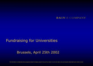 Fundraising for Universities