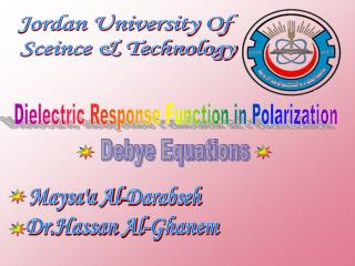 Jordan University Of  Sceince & Technology