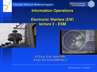 Information Operations Electronic Warfare (EW) lecture 2 - ESM