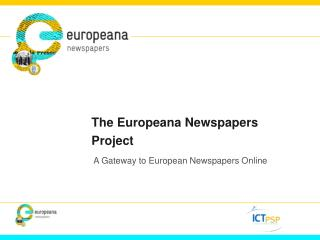 The Europeana Newspapers Project