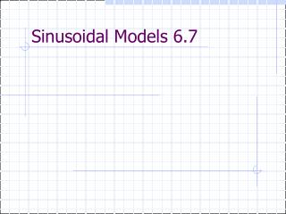 Sinusoidal Models 6.7