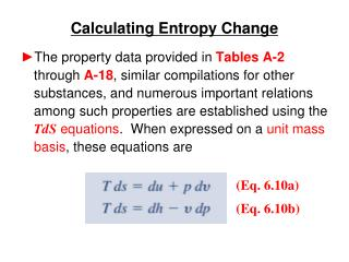 Calculating Entropy Change
