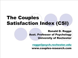 The Couples Satisfaction Index (CSI)
