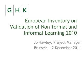 European Inventory on Validation of Non-formal and Informal Learning 2010
