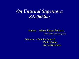 On Unusual Supernova SN2002bo