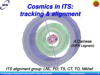 Cosmics in ITS:  tracking & alignment