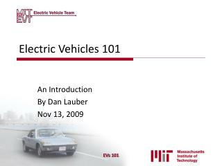 Electric Vehicles 101