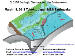 GLG110 Geologic Disasters and the Environment