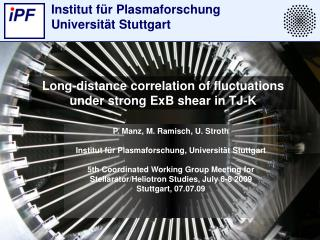 Long-distance correlation of fluctuations under strong ExB shear in TJ-K
