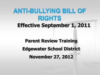 Anti-Bullying Bill of Rights