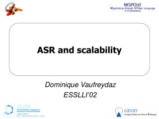 ASR and scalability