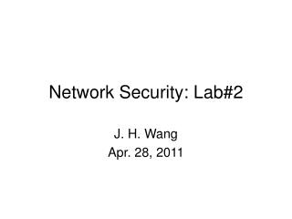 Network Security: Lab#2
