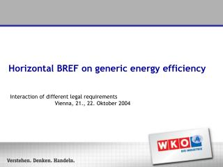 Horizontal BREF on generic energy efficiency