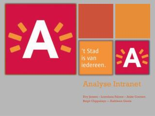 Analyse Intranet