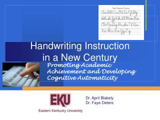 Handwriting Instruction  in a New Century