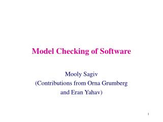 Model Checking of Software