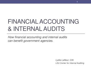 Financial Accounting & Internal Audits