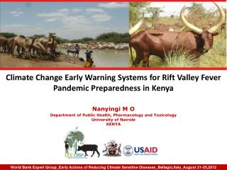 Climate Change Early Warning Systems for Rift Valley Fever Pandemic Preparedness in Kenya