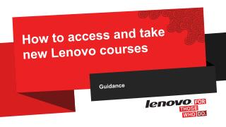 How to access and take  new Lenovo courses