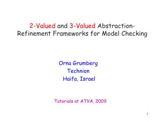 2-Valued  and  3-Valued  Abstraction-Refinement Frameworks for Model Checking