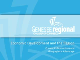 Economic Development and the Region