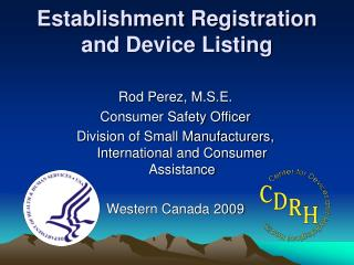 Establishment Registration and Device Listing