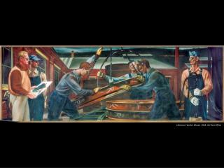 Lehman, Harold. Mural. 1943. US Post Office