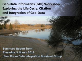 Summary Report from Thursday, 3 March 2011  Pine Room Data Integration Breakout Group