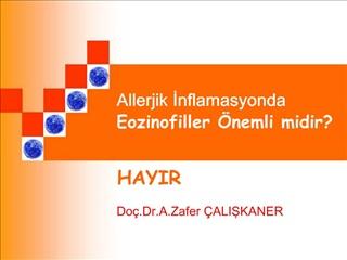 Allerjik Inflamasyonda Eozinofiller  nemli midir