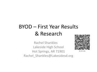 BYOD – First Year Results  & Research
