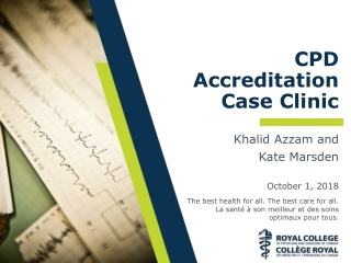 CPD Accreditation Case Clinic
