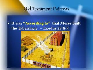 Old Testament Patterns