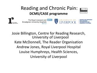 Reading and Chronic Pain: DCMS/CASE programme