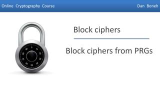 Block ciphers from PRGs