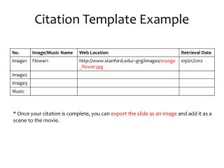 Citation Template Example