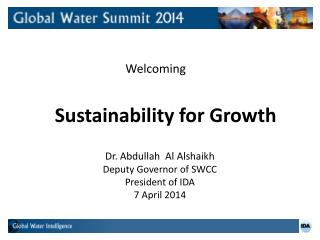 Sustainability for Growth