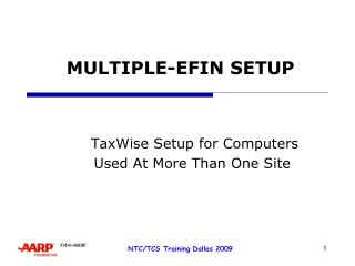 MULTIPLE-EFIN SETUP