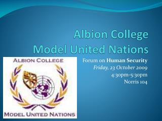 Albion College  Model United Nations