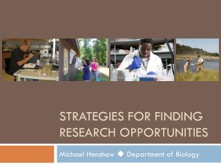 Strategies for Finding Research Opportunities