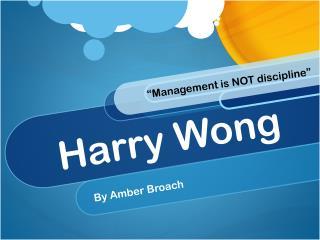 Harry Wong