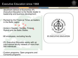 Executive Education since 1968