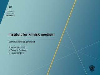 Institutt for klinisk medisin