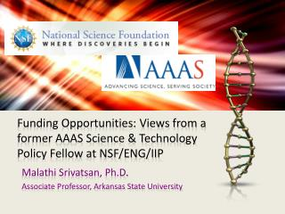 Funding Opportunities: Views from a former AAAS Science & Technology Policy Fellow at NSF/ENG/IIP