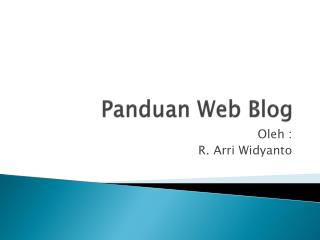 Panduan Web Blog