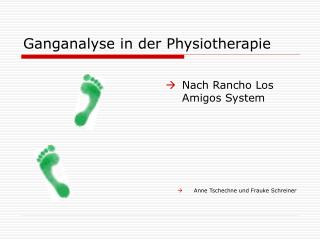 Ganganalyse in der Physiotherapie