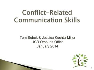 Conflict-Related  Communication Skills