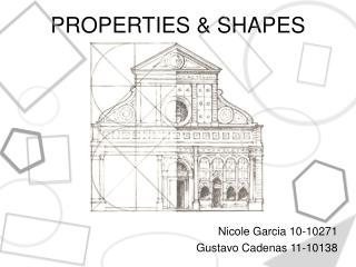 PROPERTIES  & SHAPES