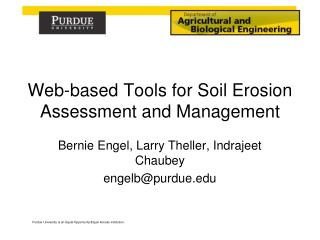 Web-based Tools for Soil Erosion Assessment and Management