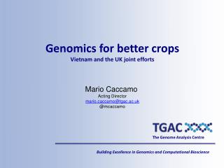 The Genome Analysis Centre